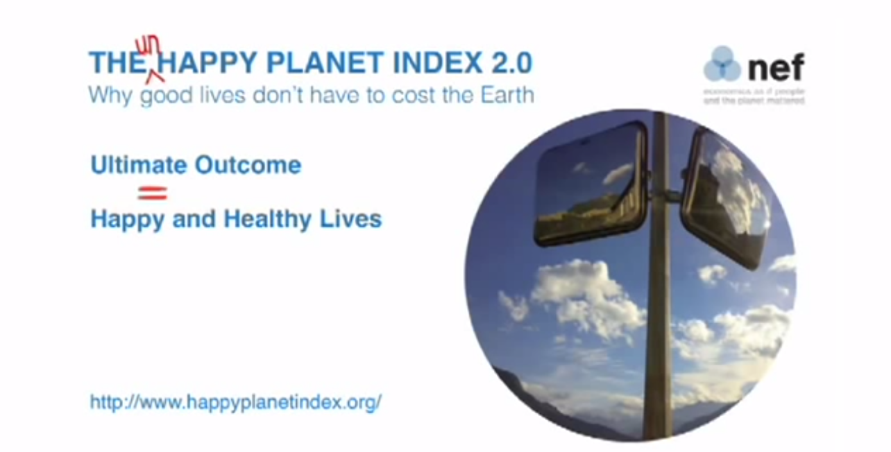 Happy Planet Index screenshot